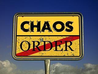 señal de caos y orden